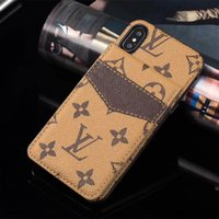 Wholesale new china phones for sale - Group buy New Fashion Luxury Designer Phone Case for iphone pro max Xs XR Xsmax plus Card Holder Leather Phone Cover for Note10plus S20Ultra S10