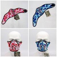 ingrosso maschere di squalo-Marea Camouflage Multisport maschera protezione mezza maschere Squalo miscela di colore invernali per il ciclismo Uomini e donne Tenere 15jc Warm E1