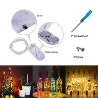 Wholesale waterproof battery pack resale online - Pack of Fairy String Lights Battery Operated foot LEDs Starry String Light Silver Coated Copper Wire Lights Warm White