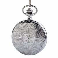 Wholesale 15 inch silver chain for sale - Group buy CKKU Jewelry Silver Case Full Hunter Quartz Pocket Watch Inch Alloy Chain with Clip Clasp for Men Boys Gift LPW173