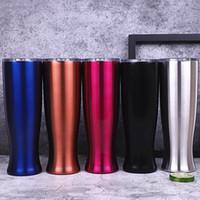 ingrosso l'acqua di colore dei vasi-20 oz tazze di acqua in acciaio inossidabile bardiano 2 strati bicchiere bevente forma di vaso tazza adatta home desktop regali tinta unita 25sx E1