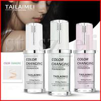 çıplak kapatıcı toptan satış-Tailaimei Pro Klasik 40 ml TLM Renk Değiştirme ve Ayarlama Çıplak Vakfı Magic Tüm Gün Kusursuz Kalıcı Son Kat Sıvı Kapatıcı