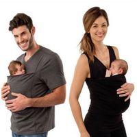 iri gömlek toptan satış-Yaz Kanguru Bebek Taşıyıcı Giysi Tişört Anne Kolsuz Büyük Cepler Tank Top Kadınlar için Çok fonksiyonlu Artı Boyutu LJJS256 Tops