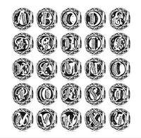 mektup mektup toptan satış-Mektup koleksiyonu U-Z DIY takı Pandora Charms Bilezik Uyar Orijinal 925 Ayar Gümüş boncuk Charms 2019 yeni