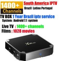 videos en vivo al por mayor-x96 mini android 7.1 OS TV box con brasil + canales VOD Portugal España Brasil Globo REDE Latino IPTV 1000+ películas 1400+ En vivo con video 4K