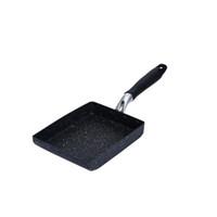 ingrosso uovo di alluminio-New Burning Pan Frying Frittata Uova Fritte Pan Quadrata Alluminio Non-Fresa Padella Due colori disponibili Pentole