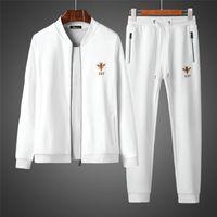 moda gösteri bandı toptan satış-Defile Yeni Marka Erkek Eşofman Tasarımcı Marka Pamuk Sportsuits Coat + Pantolon Takım Elbise Nakış Sonbahar Hırka Erkekler Hoodies Kazak