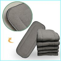 Wholesale inserts for diapers resale online - 1000pcs Bamboo Charcoal Inserts Absrobent Pads layers For Pocket Diapers