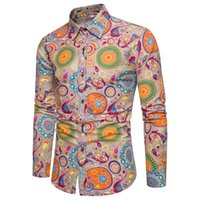 Wholesale size 18 clothes for sale - Group buy New Brand Clothing Fashion Shirt Male Flax Dress Shirts Slim Fit Turn Down Men Long Sleeve Mens Hawaiian Shirt Big Sizes XL