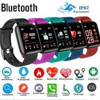 relógio de pulseira esportiva venda por atacado-Mais recente moda Bluetooth relógio inteligente Cardíaca Pressão oxigênio do sangue do esporte da aptidão do Tracker pulseiras Hot Sale