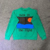 niños con capucha verde al por mayor-EE.UU. América hombres de Hip Hop mujeres CPFM XYZ Kid Kid balanceo Loud Surfin en mi propia onda de la puesta del sol soplo de impresión con capucha verde sudadera con capucha