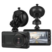 led ekran kutusu toptan satış-3 inç Araba DVR 1080P FHD 170 derece görüş açılı Pano Kamera Black Box Ekran Gece Görüş DVR Arka Kamera Hareket