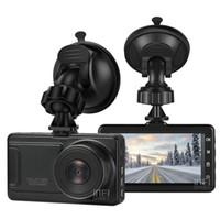armaturenbrett-camcorder groihandel-3-Zoll-Auto DVR 1080P FHD 170 Grad Weitwinkel-Armaturenbrett-Camcorder Black Box Schirm Nachtsicht-DVR-hintere Kamera-Bewegung