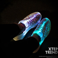 Wholesale wide size shoes for women for sale - Group buy UncleJerry Size New Summer Led Fiber Optic Shoes for girls boys men women USB Recharge glowing Sneakers Man light up shoes T191001