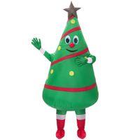 yılbaşı ağacı kostümleri toptan satış-Sıcak Satış yetişkin şişme kostüm yeni tasarım Yeşil Noel Ağacı Maskot Kostüm Ücretsiz Kargo