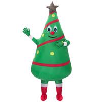projeto livre do traje da mascote venda por atacado-Venda quente adulto traje inflável novo design Verde Da Árvore de Natal Traje Da Mascote Frete Grátis