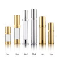 Wholesale airless serum bottles resale online - 10 x Empty Refillable plastic Acid Serum for Beautiful Skin Airless Pump Bottle Cosmetic Containers ml