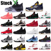 Wholesale silver iv resale online - 4 s Bred Black Cat Basketball Shoes Men Women White Cement Encore Wings Fire Red Singles Sneakers IV Pure Money Trainers