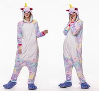 pyjama karikatur frauen s großhandel-Herbst Frühling Winter Flanell Frauen Tier Pyjamas One Piece Cartoon Nachtwäsche Liebhaber Paare Günstige Adult Animal Onsies Pyjamas Warm MC1406