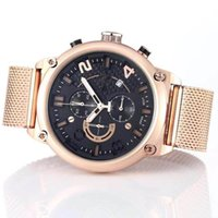 Wholesale analog watch compass online - New Style Tradition T081 Expert Solar Gold Compass Chronograph Quartz Deployment Clasp Stainless Men Watch Wristwatches Mens Watches