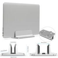 soporte de escritorio portátil al por mayor-Aluminio Ajustable Soporte de computadora portátil de escritorio vertical que ahorra espacio Soporte para Macbook Air Pro Soporte de montaje erguido para escritorio portátil para Lenovo