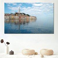 ingrosso vernice di mare blu del cielo-stampe su tela Home Decor Art Pittura croazia sea blue calm sky clouds Unframed