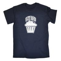 мужские рубашки шпильки оптовых-Забавный новинка футболка мужская футболка Футболка-Стад маффин цвет Джерси печати футболка