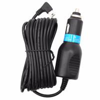 cables de corriente continua al por mayor-Alta calidad 3.5 m DC 5V 2.5A 2A Mini USB Cargador de corriente para automóvil Cable adaptador Cable para GPS Cámara de coche LED de luz