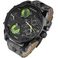 relojes de pulsera para hombre de marcas. al por mayor-Más vendidos Relojes de moda para hombres Relojes de lujo dz Marca montre homme Hombres Militares Relojes de pulsera de cuarzo Reloj relogio masculino rejoles