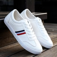 Wholesale business casual work shoes men for sale - Group buy Best price Fashion High Quality Canvas Casual White Shoes Mens Brogue Shoes Loafers Man business work men s
