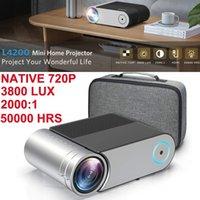 projetores de vídeo ao ar livre venda por atacado-Vamvo L4200 projetor de vídeo portátil, Full HD 1080p de visualização suportado exterior Projetor de filme 3800 Lux 50000hrs Mini Projector