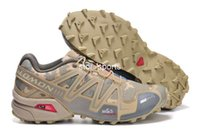 chaussures d'extérieur imperméables achat en gros de-Nouvelle marque salomon Speedcross 3 CS Chaussures de course pour hommes, Respirant Imperméable En Plein Air Sport Athlétique Sneakers Randonnée Chaussures Eur 40-46