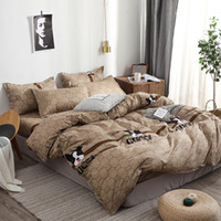 Wholesale black dog cover online – custom Home Textile Cartoon Dog Duvet Cover Pillowcase Bed Sheet Simple Boy Girls Bedding Sets Single Double Bedlinen Free ship