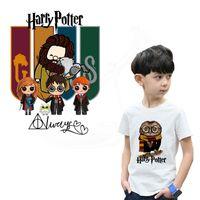 demir harry potter yaması toptan satış-SıCAK Karikatür Harry Potter Demir-On yamalar giysi için DIY çocuk T-shirt giyim yamalar Termal transfer sopa