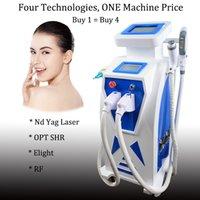 sistema de depilacion laser yag al por mayor-4 en 1 IPL shr láser sistema de depilación permanente nd yag láser máquina q cambio de tatuaje q-cambiado