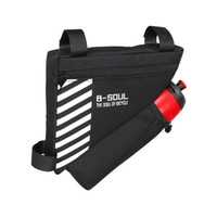 Wholesale bags water bottle pockets resale online - B SOUL Bike Triangle Bag For Bicycle Front Frame Bag Cycling Top Tube Bag With Water Bottle Pocket Bicycle Accessories black