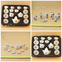 Wholesale play kitchen food sets for sale - Group buy Mini Tea Cup Model Pretend Play Kitchens Food Games Porcelain Dollhouse Cat Pattern Chinese Style Set wd F1