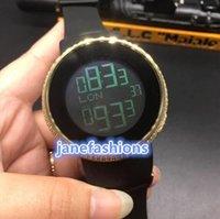 relógio de quartzo boutique venda por atacado-Relógio de luxo dos homens boutique de ouro moldura de diamante personalizado relógio de tendência de moda relógio de quartzo relógio de LED popular