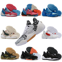 Wholesale shoes running outlet resale online - New Arrival Harden Vol Basketball Shoes Fashionable Streetwear Training Sneakers Men James LS PK Bred Outlet Rubber Simple Running Shoes