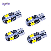 Wholesale auto dome lamp resale online - 100pcs T10 W5W smd led License plate Car indicator Lamp width DC12v Auto License Plate Light Parking Light Door safety light White