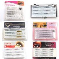 enxertar cílios venda por atacado-Mink Enxertar Cílios Falsos Cílios Extensões de Cílios Postiços Onda Natural Enxertos Cílios Lashes Maquiagem Ferramentas LJJR924