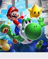 sala de mario al por mayor-Vista en 3D Arte de la Historieta Etiqueta de La Pared Decoración para el hogar Super Mario Bros Boy tema Pegatinas para niños de Alta Calidad Pvc 4 8hy jj