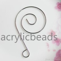 Wholesale hangers china resale online - China Yiwu Factory Price mm Unique Spiral Stainless Steel S Hooks Hanger Ornament Decorative