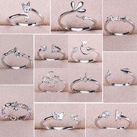 verstellbare sterling silber ring einstellungen großhandel-großhandel 925 sterling silber ringe einstellungen diy perle ring für frauen diy ringe einstellbar größe schmuck einstellungen weihnachten aussage mode