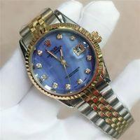 relógios suíços venda por atacado-Alta qualidade top marca suíço relógio de diamantes mulheres vestido Assista aço inoxidável homens moda resistente à água mens luxo mens relógio de quartzo