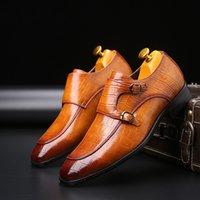 art und weise q plus großhandel-Luxus Designer Männer Lederkleid Schuhe Top Leder Hochzeit Männer Schuhe Fashion Loafers Heel Schuhe Plus Größe: 39-46 Q-581