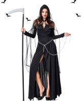 ingrosso reaper cosplay-Halloween costume donne morte Cosplay Reaper Bleach costume Fancy Dress sexy festa di Halloween