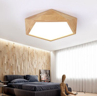 Wholesale bamboo lamp living room for sale - Group buy Mooielight Creative Wood Geometric LED Ceiling Lamps modern living room bedroom aisle ceiling light Indoor Lighting Fixture MYY