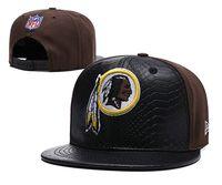 fábrica de chapéus snapback venda por atacado-2019 preço de fábrica novo chapéu de sol Redskins pico viseira bonés de futebol Adjustbale Caps mulheres strapback snap back Chapéus Snapback Headwear