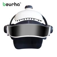 Wholesale adjustable size helmet resale online - Electric Head Massager Brain Massage Helmet With Music Adjustable Head Size Instrument Household Head Massage Relaxation Device T190712